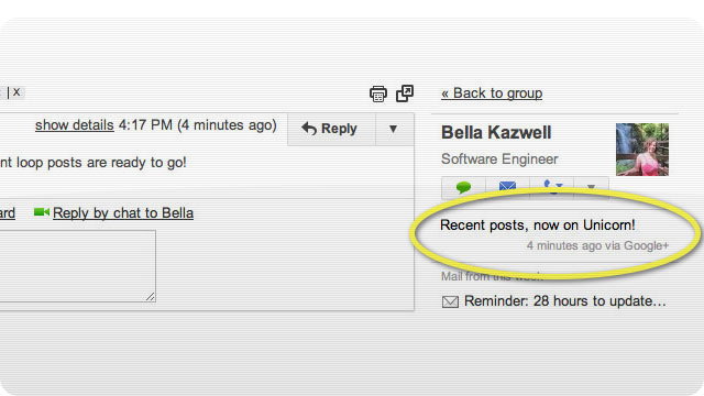 Google+ Posts Coming Soon to Gmail