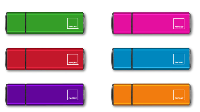 Color-Match Your USB Sticks to Your Other Pantone Tat