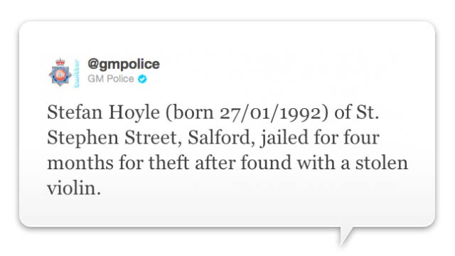 Police Now Tweeting Name, Address and Birthday of British Looters