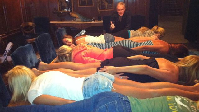 Hef and the Playboy Bunnies Discover Planking