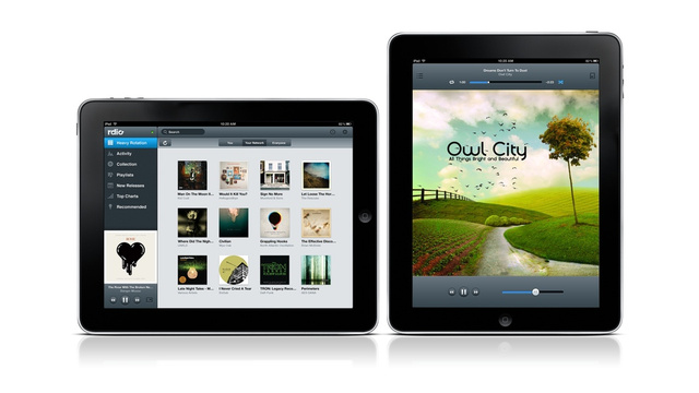 Rdio's iPad App Now Available