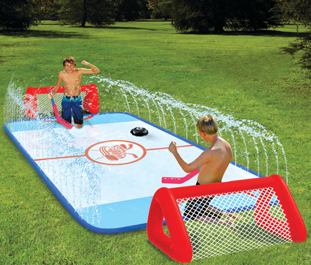 This Slip 'N Slide Hockey Rink Will Give You A Good Time, Bloody Knees