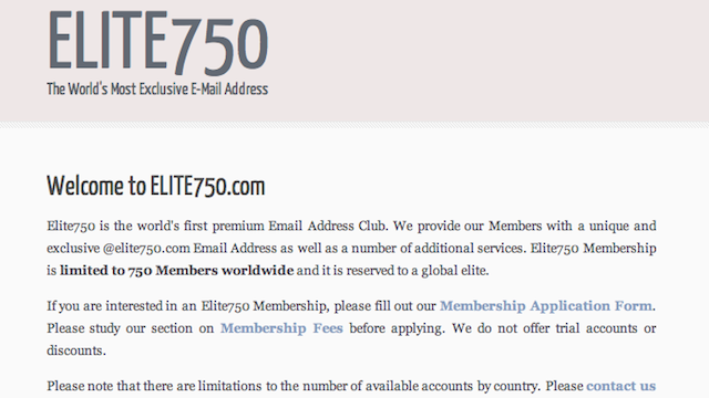 Only Tiny Prick Idiots Would Pay $7,500 for the World's Most Exclusive E-Mail Address