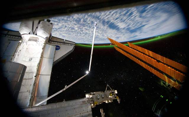 I Can't Think of a More Beautiful Image of the Shuttle, Earth and the ISS