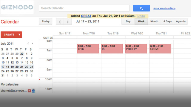 The New Google Calendar Sure Is Purty
