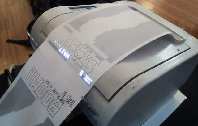 Modern Day Receipt Racer Borrows From Obsolete Printers Long Gone