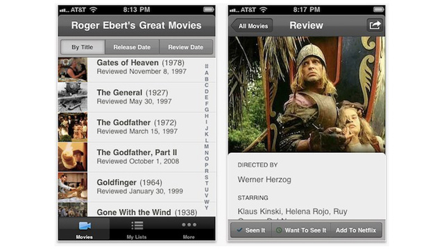 Roger Ebert App Lets You Know What Movies Are Worth Seeing