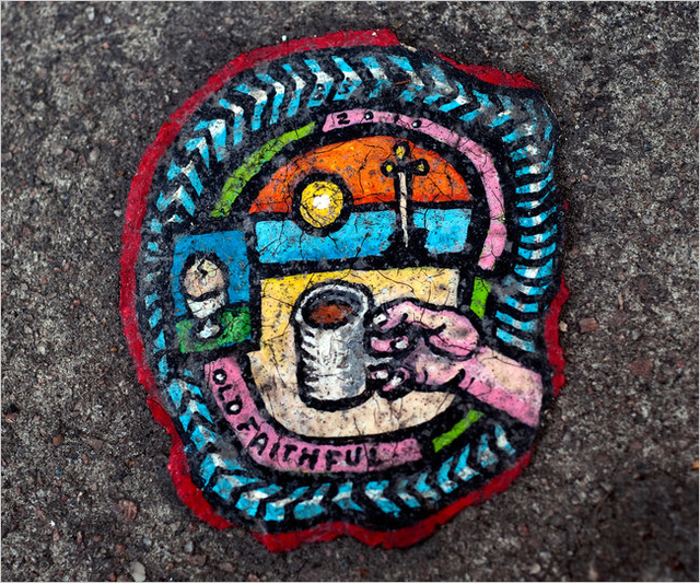 Artist Paints Tiny Pictures on Chewing Gum Spit Out on the Sidewalk
