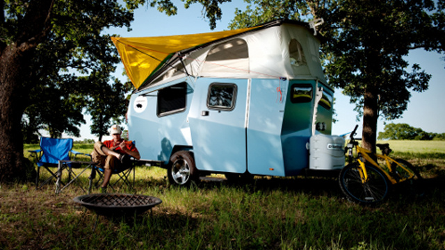 Former Nasa Architect Now Builds Topsy-Turvey Camping Trailers