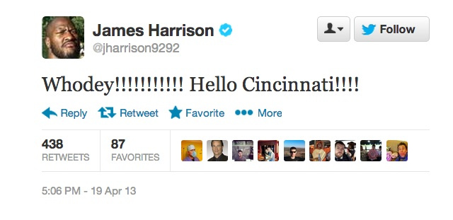 Looks like James Harrison is staying in the AFC North.