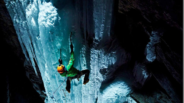 Professionally Lighting Climbers On A Sheer Ice Wall Basically Guarantees Amazing Photos