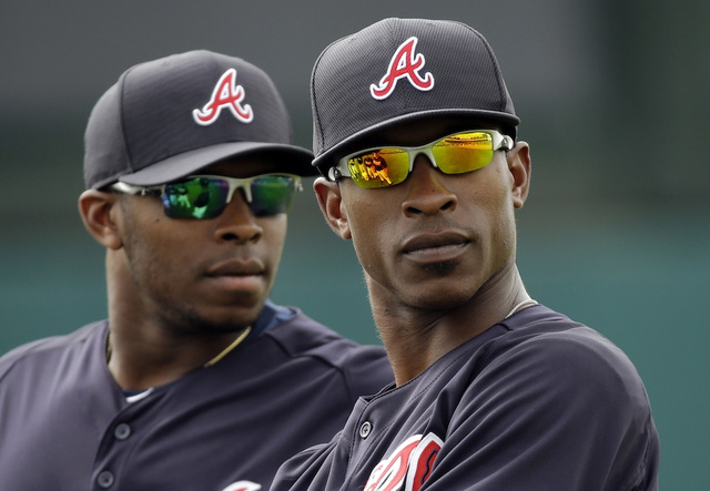 The Upton brothers hit back-to-back home runs last night.
