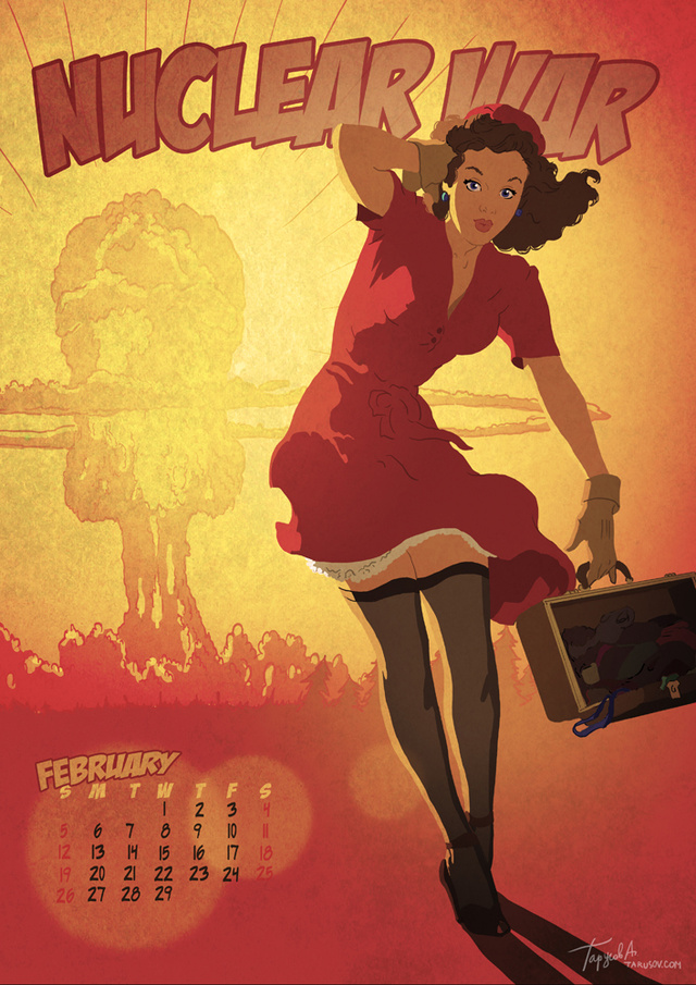 Pin-up calendar ladies survive the sexy apocalypses