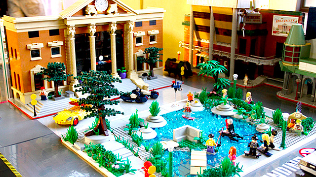 Hill Valley, 2015 AD, in LEGO form