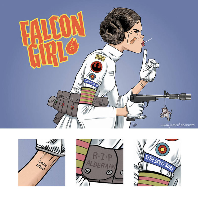 Princess Leia meets Tank Girl, and the galaxy is made way cooler as a result