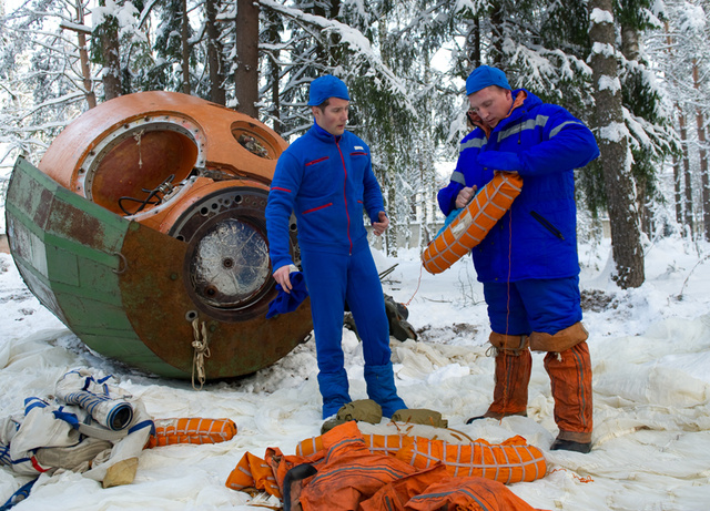 In Kazakhstan, cosmonauts must go through winter wilderness training to survive reentry