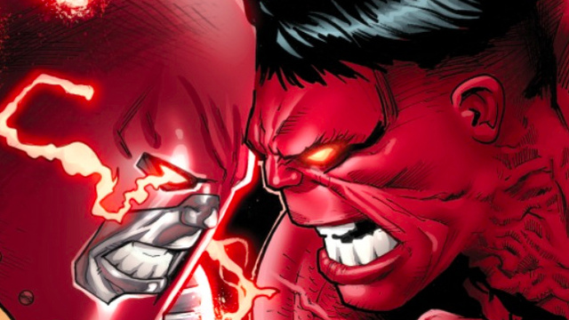 An exclusive first look at Colossus versus Red Hulk from Avengers Vs. X-Men!
