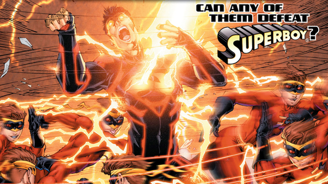 In this exclusive preview of Teen Titans, Kid Flash takes on Superboy!