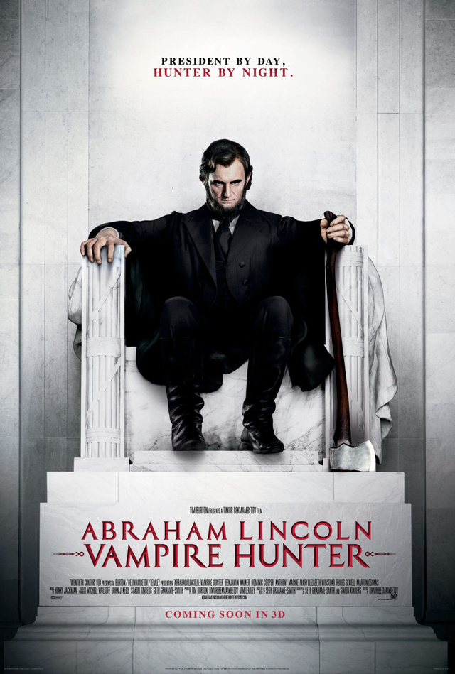 First footage of Abraham Lincoln Vampire Hunter shows the Rail Splitter in action!