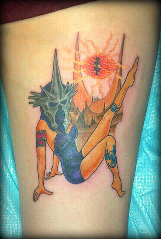Lord of The Rings pin-up tattoo makes Nazgûls sexy