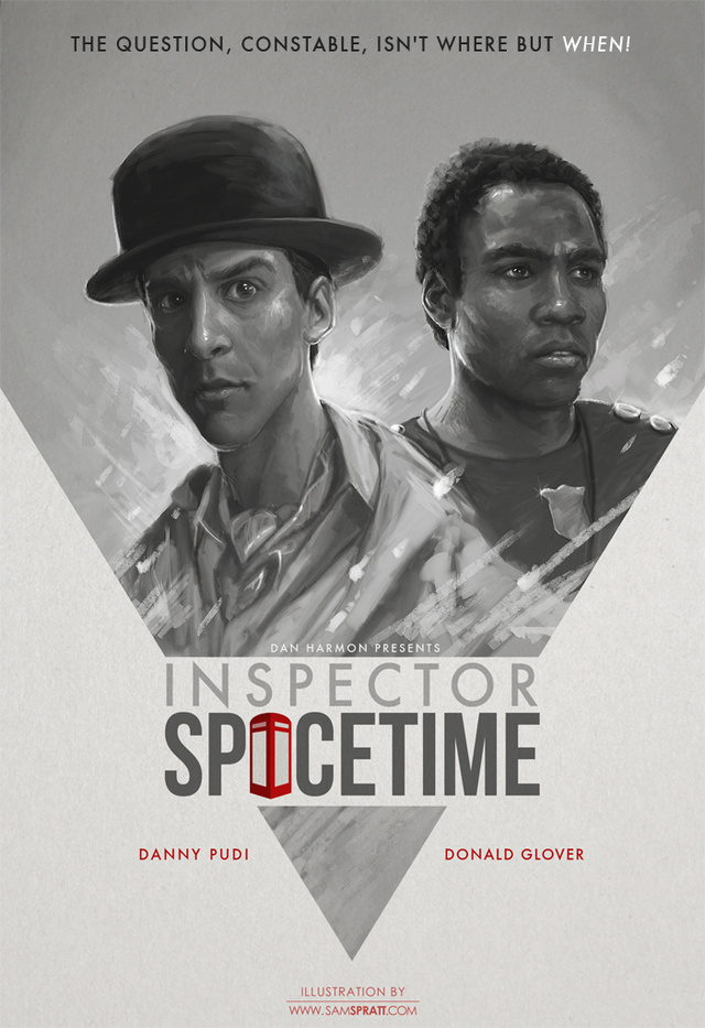 Behold, the movie poster for Inspector Spacetime, Community's tribute to Doctor Who
