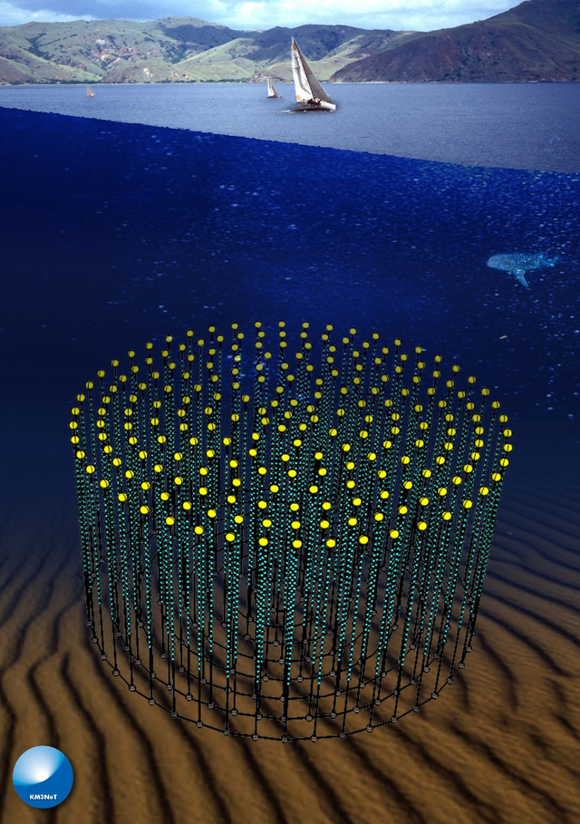 Underwater neutrino detector will be the second largest structure ever built