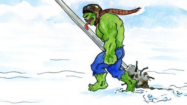 What if the Incredible Hulk starred in  A Christmas Story?