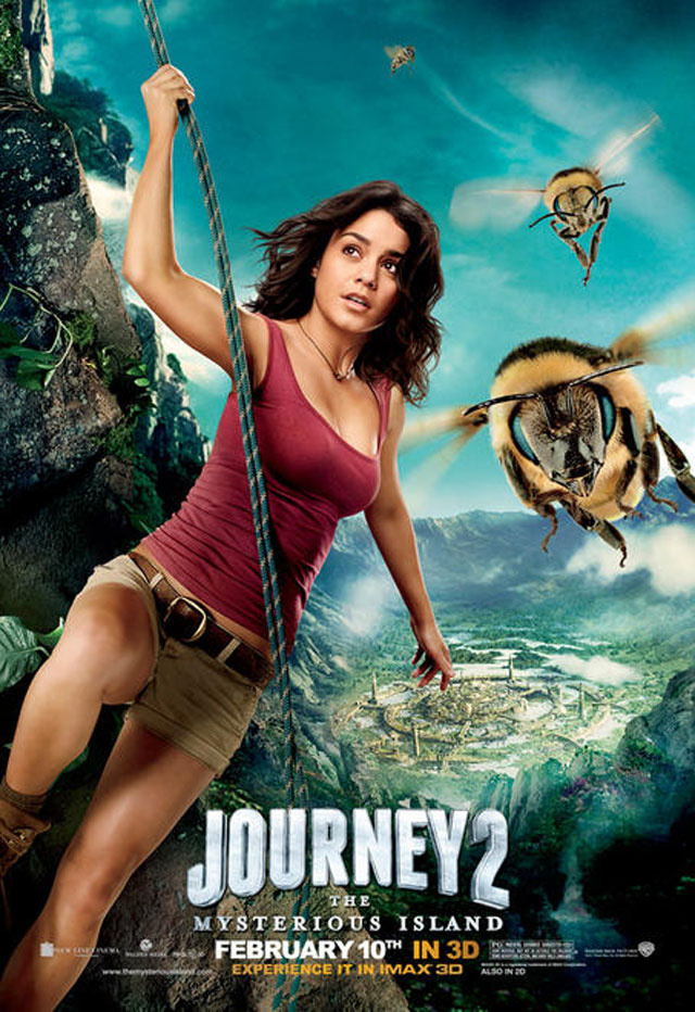 What is Michael Caine thinking in this Journey 2 character poster?