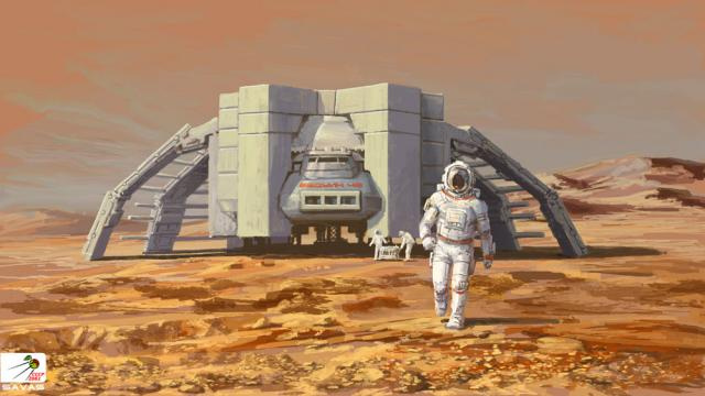 Gambling Horses And The Soviet Mars Colonies: 20 Retro-futuristic Visions Of The Red Planet