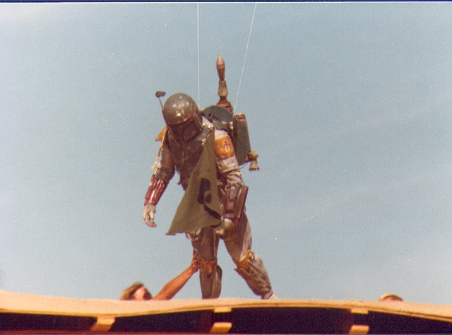 Secret behind-the-scenes Star Wars photos show the final flight of Boba Fett