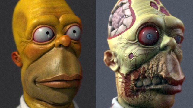 Stare Into the Unseeing Eyes Of Real-Life Zombie Homer Simpson