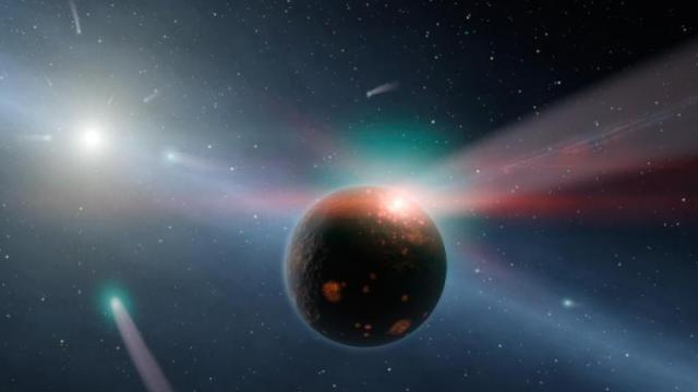 Comets are raining down water on a faraway planet