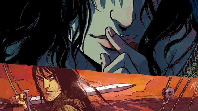 In the new Conan The Barbarian comic, the Cimmerian takes to the seas with a perpetually naked pirate queen