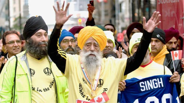 Fauja Singh just ran a marathon. He's also 100 years old.