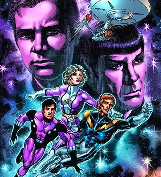 How will the Legion of Superheroes meet the crew of the Starship Enterprise? Author Chris Roberson fills us in