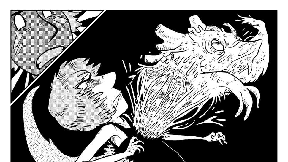 In the webcomic <em>Monster Pulse</em>, a government conspiracy turns human body parts into kooky kaiju