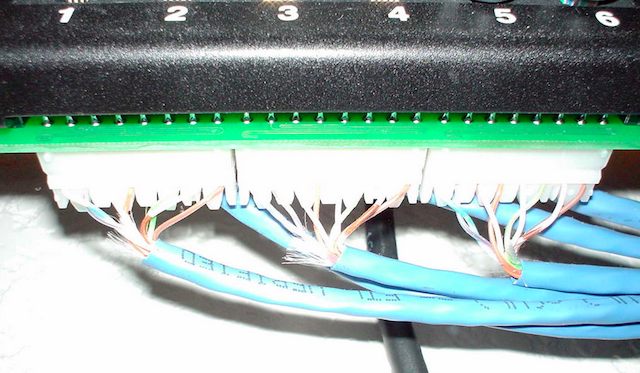 how to connect ethernet cable to patch panel