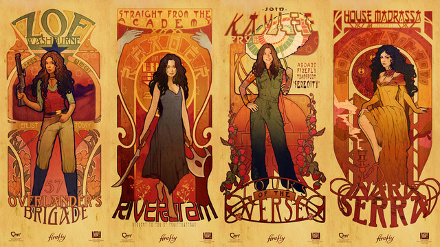 Art Nouveau Firefly Prints: Beautiful Damn Heroes!