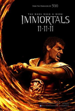 New Immortals character posters show off Mickey Rourke's violent bunny helmet