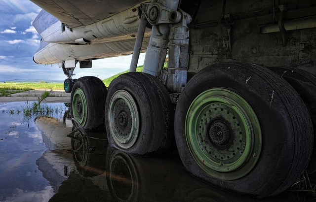 Scenes from an open-air airplane graveyard in the Russian Far East