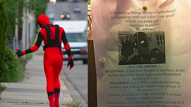 A real-life Deadpool is patrolling a small city in Washington state