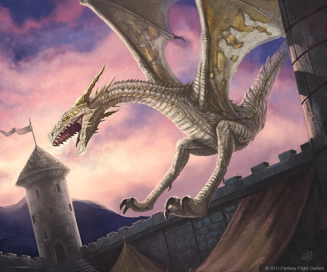 A vision of the gigantic, serpentine dragons from Game of Thrones