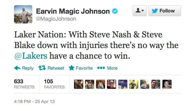 Even Magic Johnson Has Given Up On The Lakers