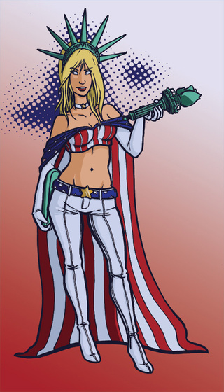 Superheroes and villains get a patriotic American makeover