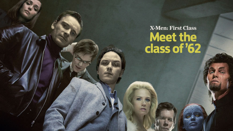 X-Men Class of '62 poses for their yearbook photos