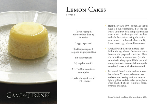 Game of Thrones Truck Recipes