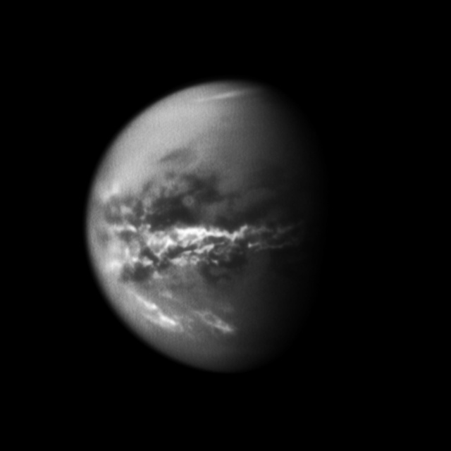 The first pictures of a methane rainstorm and floods on Titan