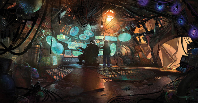 Mindblowing Concept Art from Mars Needs Moms: The lair of the mother-stealing Martians has never looked so dangerous