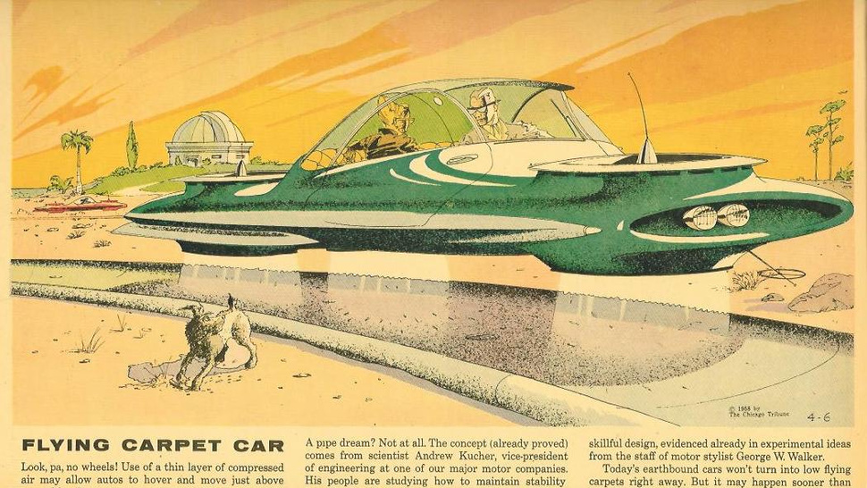 In the 1950s, Ford Motor's vice-president pushed for a flying car