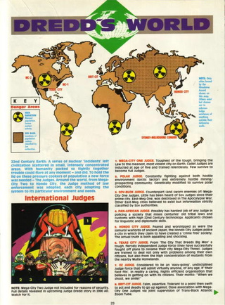 A cartography of Judge Dredd's Cursed Earth